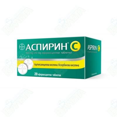 АСПИРИН + ВИТАМИН Ц/БАЙЕР/ЕФ Х 20