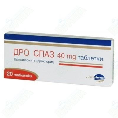 Adipharm Dro Spaz / ДРО СПАЗ таблетки 40 мг  Х 20