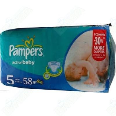 ПАМПЕРСИ PAMPERS N5 JUMBO X 58