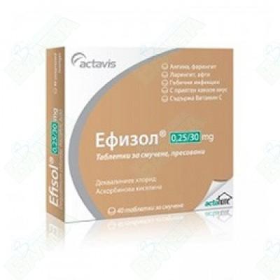 ЕФИЗОЛ ТАБЛЕТКИ 250 мг Х 40