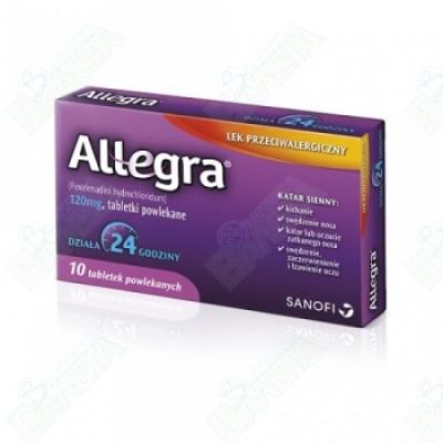 АЛЕГРА ТАБЛ. 120 мг.х 10