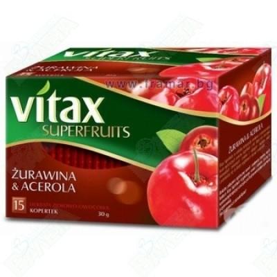 VITAX / ВИТАКС ЧЕРВЕНА БОРОВИНКА И АЦЕРОЛА филтър х 15