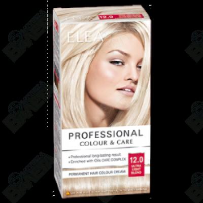 ELEA Professional Colour & Care / ЕЛЕА Боя за коса Ултра светло русо 12.0