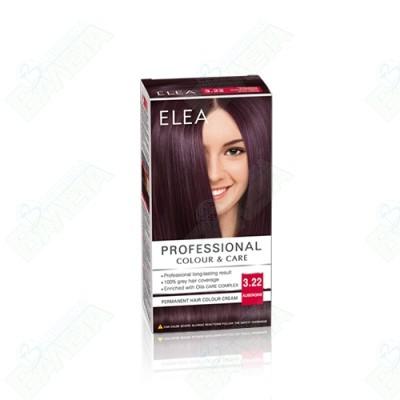 ELEA Professional Colour & Care / ЕЛЕА боя за коса Патладжан 3.22