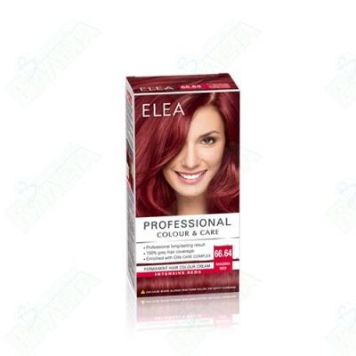 ELEA Professional Colour & Care / ЕЛЕА БОЯ ЗА КОСА Огнено червен 66.64