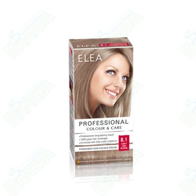 ELEA Professional Colour & Care / ЕЛЕА Боя за коса Светло пепелно русо 8.1