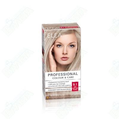 ELEA Professional Colour & Care / ЕЛЕА БОЯ ЗА КОСА Много светло пепелно русо 9.1