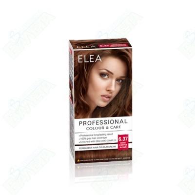 ELEA Professional Colour & Care / ЕЛЕА Боя за коса Тъмно медно русо 6.37