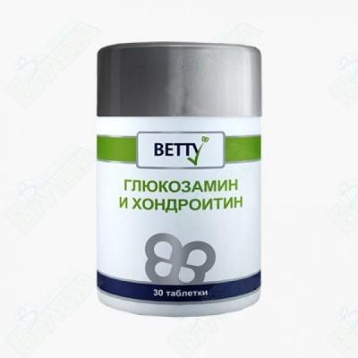 БЕТИ ГЛЮКОЗАМИН И ХОНДРОИТИН ТАБЛЕТКИ Х 30