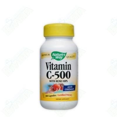 Nature's Way ВИТАМИН С ШИПКА 500 мг х 100