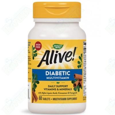 ALIVE / АЛАЙФ МУЛТИВИТАМИНИ ЗА ДИАБЕТИЦИ таблетки x 60