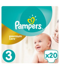ПАМПЕРС S3 PREMIUM CARE МИДИ 5-9 кг х 20 бр