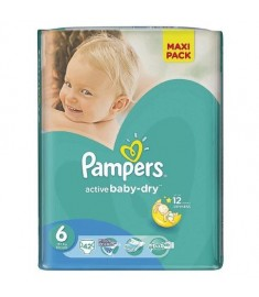 ПАМПЕРС PAMPERS 6 EXTRA LARGE X 42