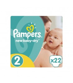 ПАМПЕРСИ PAMPERS N2 MINI 3-6 КГ Х 22 БР