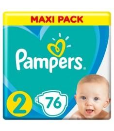 ПАМПЕРС PAMPERS S2 MINI /3-6КГ/ Х 76 + КЪРПИЧКИ