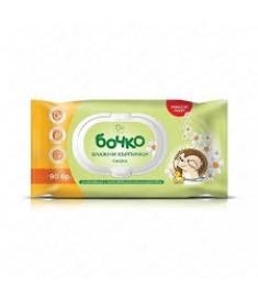 БОЧКО BABY кърпи влажни лайка х 90 /хипоалерг./