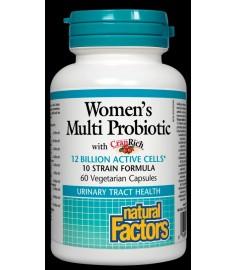 МУЛТИ ПРОБИОТИК ЗА ЖЕНИ 12млрд. пробиотици 60капс NATURAL FACTORS