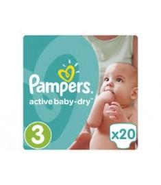 ПАМПЕРС PAMPERS МИДИ №3 5-9 кг X 20 бр