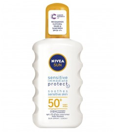 НИВЕА SUN SPF50+ SENSITIVE IMMEDIATE PROTECT СПРЕЙ 200ml