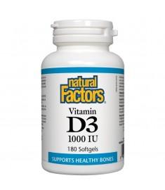 ВИТАМИН D3 1000IU Х180 NATURAL FACTORS