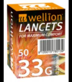 WELLION / ЛАНЦЕТИ за убождане 33G(0,20 mm) Х 50
