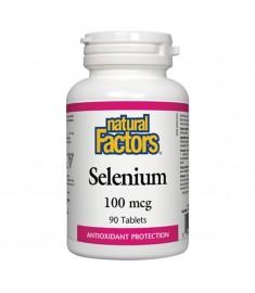 NATURAL FACTORS / СЕЛЕН таблетки  100 mcg Х 90