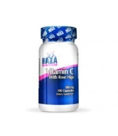 HAYA LABS ВИТАМИН С + ШИПКА 500 мг Х 100