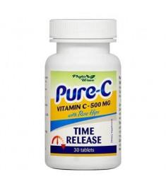 ПЮР-C ВИТАМИН C 500 мг И ШИПКА Х 30 ТАБЛЕТКИ С УДЪЛЖЕНО ОСВОБОЖДАВАНЕ