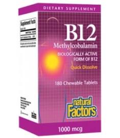 ВИТАМИН B12 1000 мкг NATURAL FACTORS