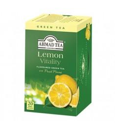 Ahmad Green Tea Lemon / АХМАД ЗЕЛЕН ЧАЙ ЛИМОН c филтър x 20