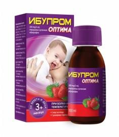 ИБУПРОМ ОПТИМА БЕБЕ перорална суспензия 200 мг/5 мл х 100