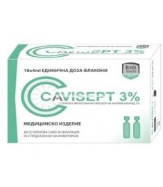 Cavisept / КАВИСЕПТ АМПУЛИ 3% РАЗТВОР за инхалации 4 мл Х 18