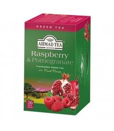 Ahmad Green tea Raspberry and Pomegranate / АХМАД ЗЕЛЕН ЧАЙ С МАЛИНА И НАР x 20