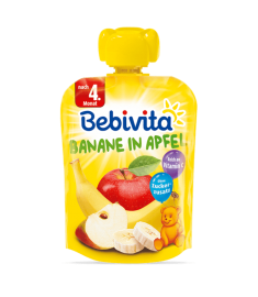 BEBIVITA / БЕБИВИТА ПЛОДОВА ЗАКУСКА ЯБЪЛКА С БАНАН 90 г