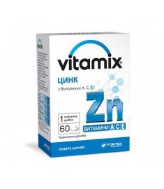 Fortex Vitamix Zinc + Vitamin A, C, E / Фортекс Витамикс Цинк + витамини А, C, Е таблетки Х 60