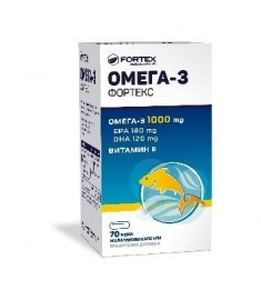 Fortex / ФОРТЕКС ОМЕГА 3 КАПСУЛИ 1000 мг Х 70