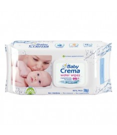Baby Crema / БЕЙБИ КРЕМА МОКРИ КЪРПИ с капак 99% ВОДА 72 бр