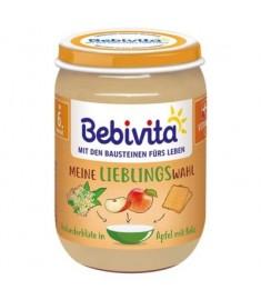Bebivita / БЕБИВИТА ПЮРЕ ЯБЪЛКА И БИСКВИТИ С БЪЗ 6 месеца+ 190 г