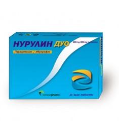 РАМКОФАРМ НУРУЛИН ДУО ТАБЛЕТКИ 500 мг/ 200 мг Х 10