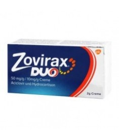 ZOVIRAX DUO / ЗОВИРАКС ДУО крем (50мг/г.+10мг/г.) 2 г