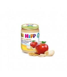 HIPP / ХИП ПЛОДОВА КАША ПЪЛНОЗЪРНЕСТИ КУЛТУРИ, ЯБЪЛКА И БАНАН 190 г