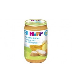 HIPP / ХИП БИО ПЮРЕ КАРТОФ ТИКВА ПИЛЕ 250 г