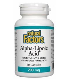 Natural Factors / НАТУРАЛ ФАКТОРС АЛФА-ЛИПОЕВА КИСЕЛИНА КАПСУЛИ 200 мг Х 60