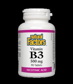 NATURAL FACTORS / НАТУРАЛ ФАКТОРС ВИТАМИН B3 таблетки 500 мг Х 90