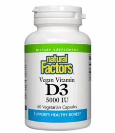 NATURAL FACTORS / ВИТАМИН D3 5000 IU таблетки Х 120