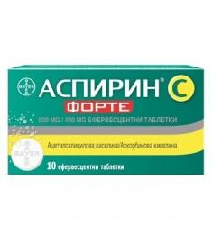 BAYER АСПИРИН С ФОРТЕ ефервесцентни таблетки 800/480 мг х 10