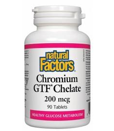 NATURAL FACTORS Chromium GTF Chelate / НАТУРАЛ ФАКТОРС ХРОМ GTF(ХЕЛАТ) 200 mcg X 90