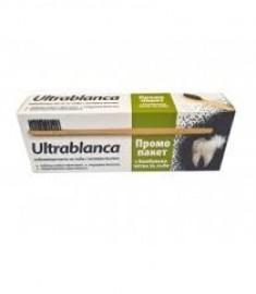 ULTRABLANCA / УЛТРАБЛАНКА ИЗБЕЛВАЩА ПАСТА ЗА ЗЪБИ с АКТИВЕН ВЪГЛЕН 75 мл + бамбукова четка за зъби
