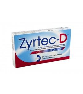 ЗИРТЕК D таблетки 5 мг/120 мг х 6