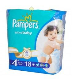 ПАМПЕРСИ PAMPERS МАКСИ4+ 9-20 х 18